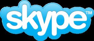 logotipo de Skype, sistema para hacer videoconferencia y tratamiento online